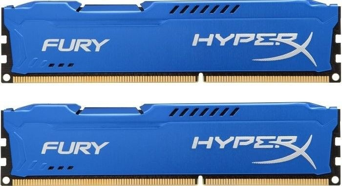 Kingston 2x4GB 1600MHz DDR3 CL10 DIMM HyperX Fury Series