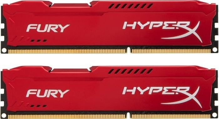 Kingston 2x8GB 1866MHz DDR3 CL10 DIMM HyperX Fury Red Series