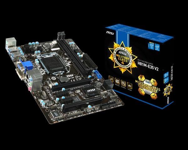 MSI mATX H81M-E35 V2, SOCKET 1150, CHIPSET H81,2xUSB 2.0, 4xUSB 3.0, 2DDR3