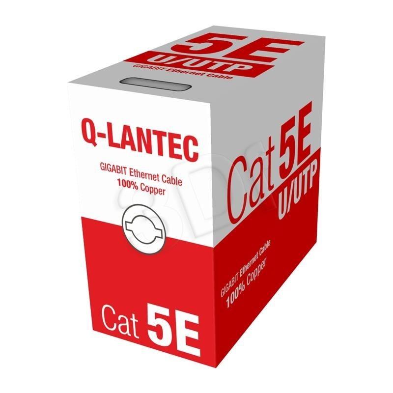 A-LAN Kabel UTP Q-Lantec KIU5PVC305NC drut ( kat.5e PVC 305m szary )