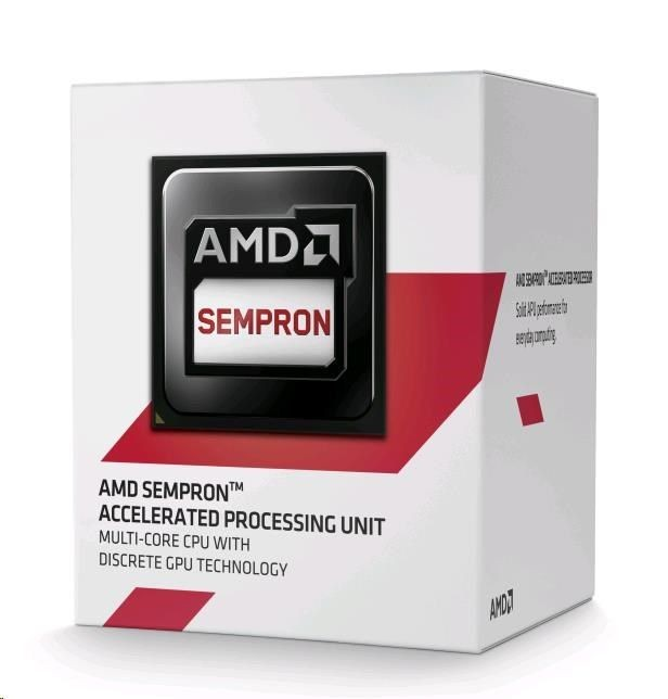 AMD Sempron 2650, Dual Core, 1.45GHz, 1MB, AM1, 28nm, 25W, VGA, BOX