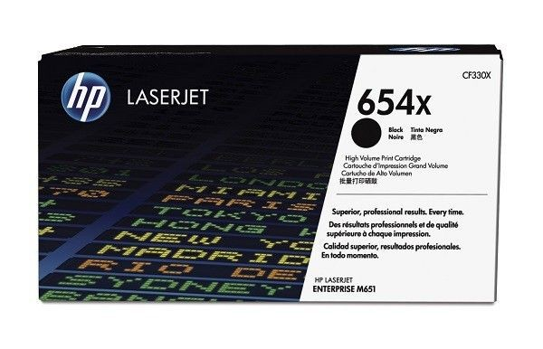 HP Toner HP 654X black high yield | 19500str | ColorLJ Enterprise M651