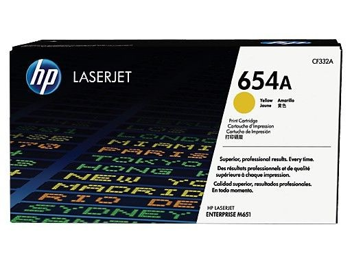 HP Toner HP 654A yellow | 15000str | ColorLJ Enterprise M651