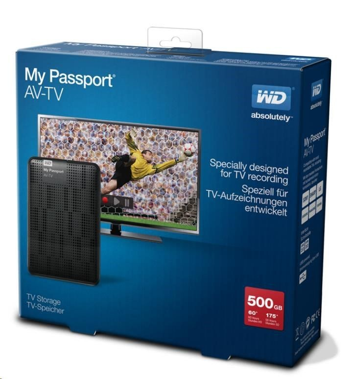 Western Digital Dysk HDD EXT My Passport AV-TV 500GB