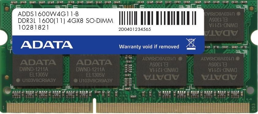 A-Data 8GB 1600MHz DDR3L CL11 SODIMM 1.35V Retail