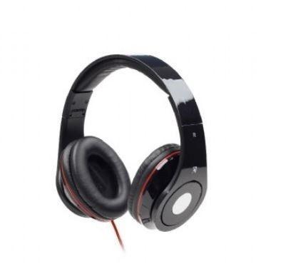Gembird słuchawki stereofoniczne DETROIT, Mini Jack, black, 1.5m