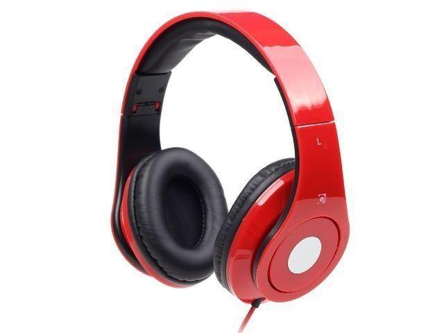Gembird słuchawki stereofoniczne DETROIT, Mini Jack, red, 1.5m