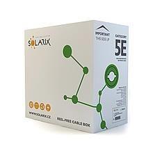 Solarix kabel instalacyjny CAT5e UTP PVC drut 305m/box