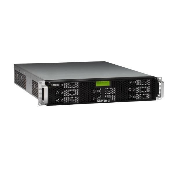 Thecus 8-Bay 2U rackmount NAS, SATA, 2.9GHz, 4GB DDR3 ECC, 1x 10GbE, USB 3.0,RPS