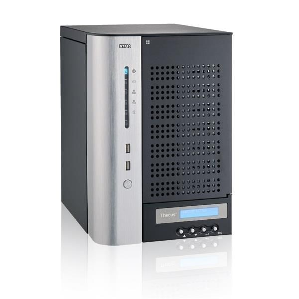 Thecus 7-Bay tower NAS, SATA, 2.9GHz Dual Core, 4GB DDR3 ECC, 2x GbE, USB 3.0