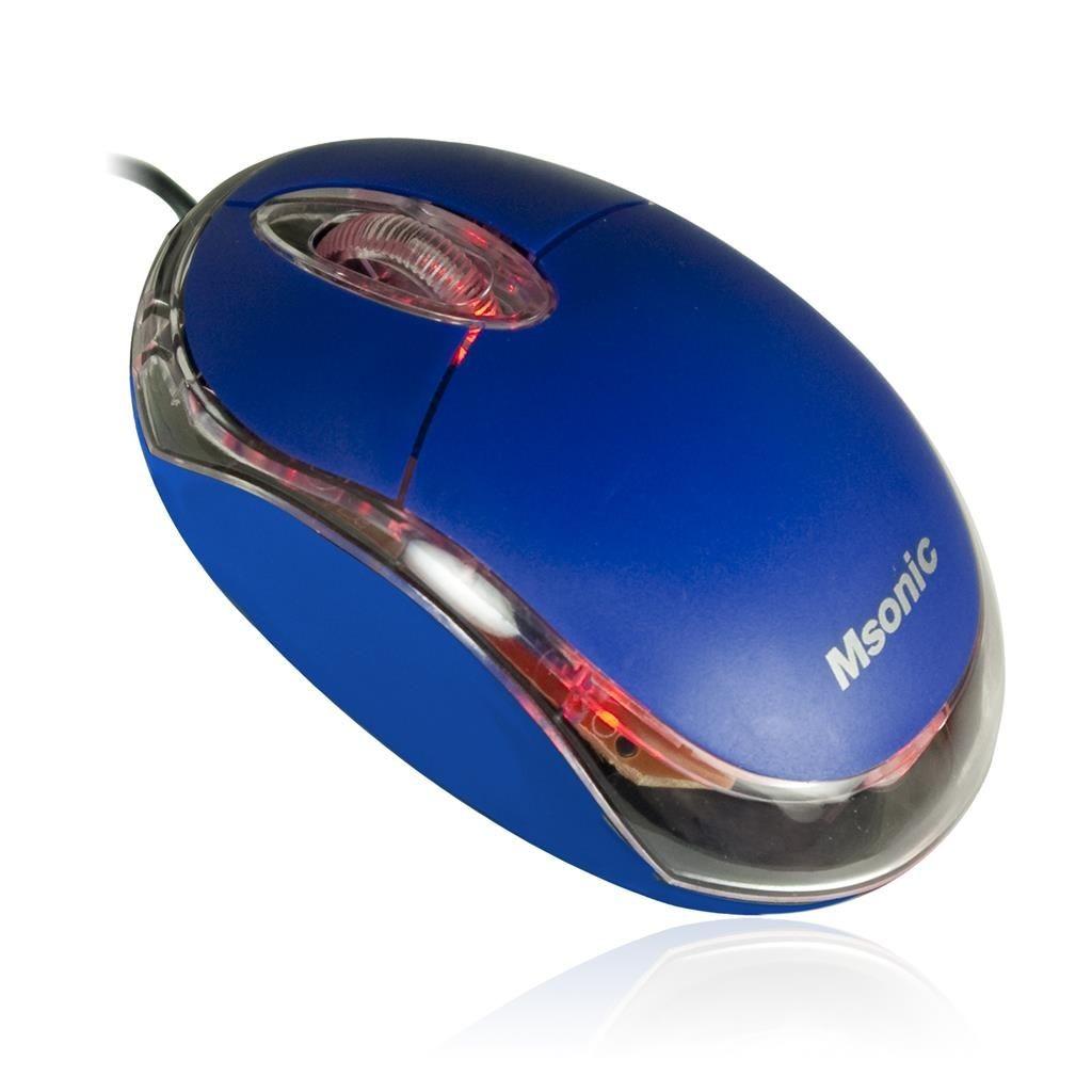 Vakoss MSONIC Mysz Optyczna USB 1200dpi NIEBIESKA