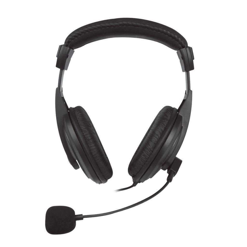 Vakoss Słuchawki stereo z mikrofonem nauszne kontrola głośności SK-601HV czarne