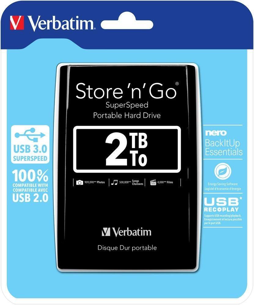 Verbatim USB HDD 2TB 2,5' Black store'n'go USB 3.0