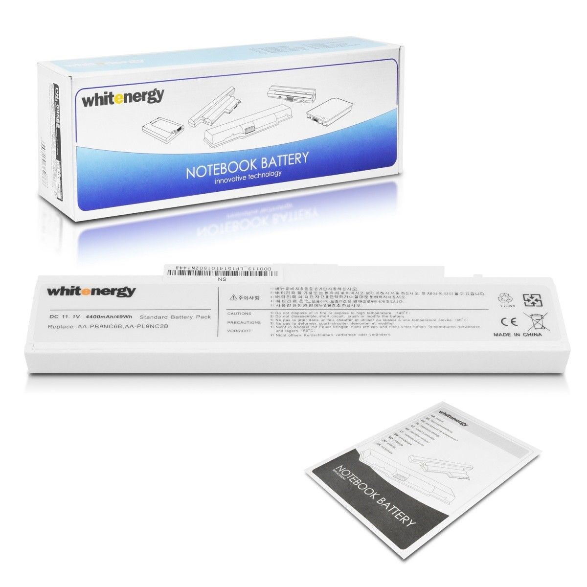 Whitenergy bateria do laptopa Samsung R580 11.1V Li-Ion 4400mAh biała