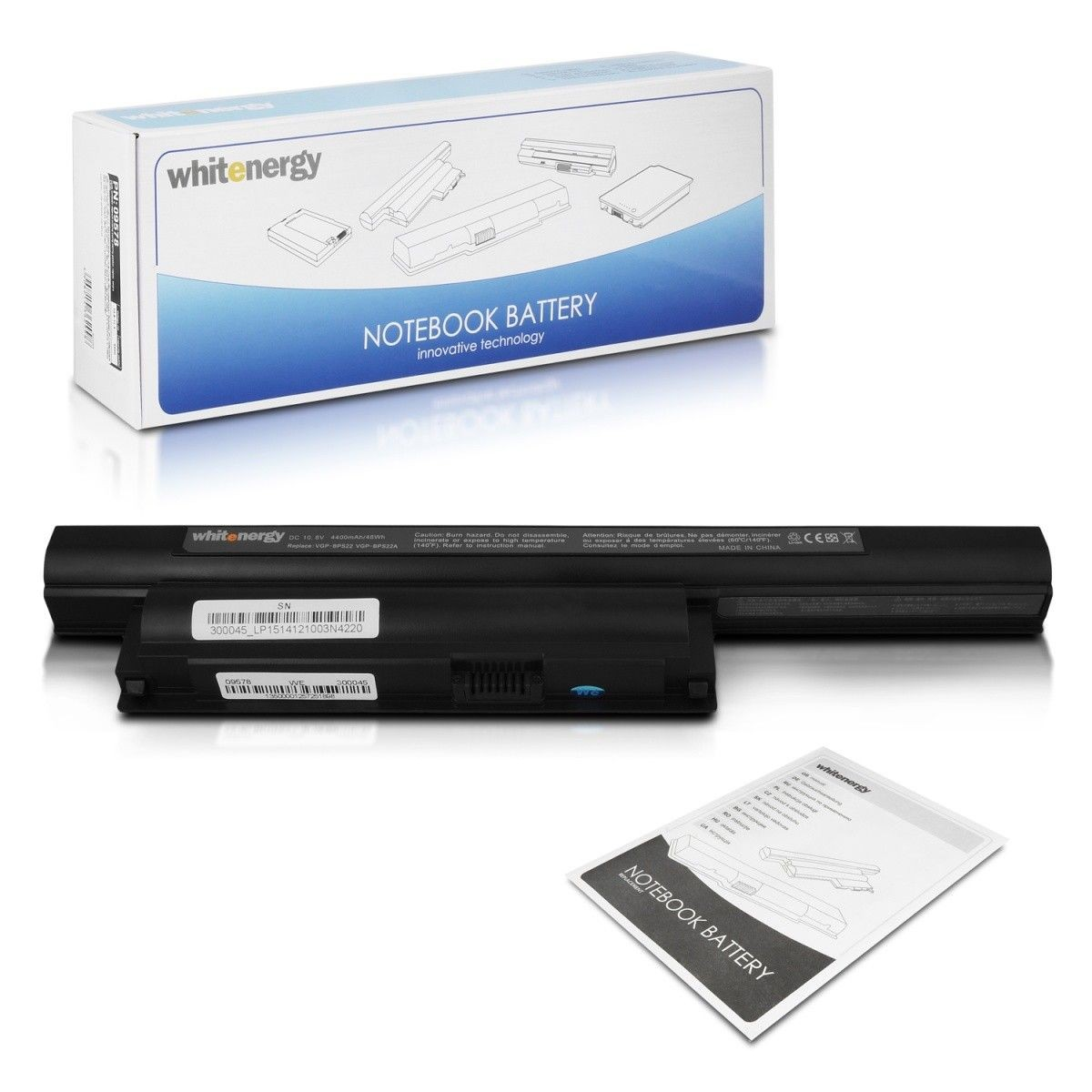 Whitenergy bateria Sony VAIO VPC-E BPS22, BPL22 10.8V Li-Ion 4400mAh czarna