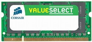 Corsair 2GB 667MHz DDR2 non-ECC CL5 SODIMM 1.8V