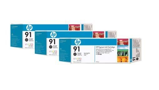 HP wkład z atramentem Vivera No.91 3-pak czarny foto (775ml, Z6100)