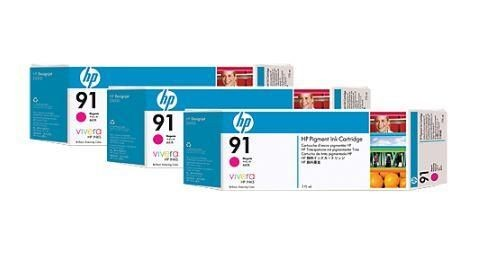HP wkład z atramentem Vivera No.91 3-pak czerwony (775ml, Z6100)