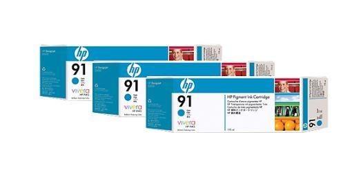 HP wkład z atramentem Vivera No.91 3-pak niebieski (775ml, Z6100)