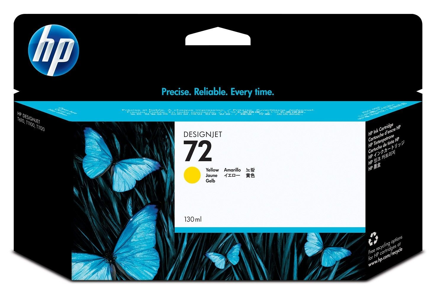 HP Tusz HP 72 yellow Vivera | 130ml