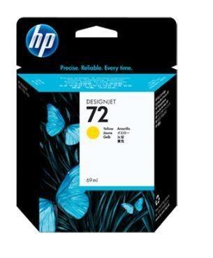 HP wkład atramentowy No. 72 żółty (69ml, T1100, T610)