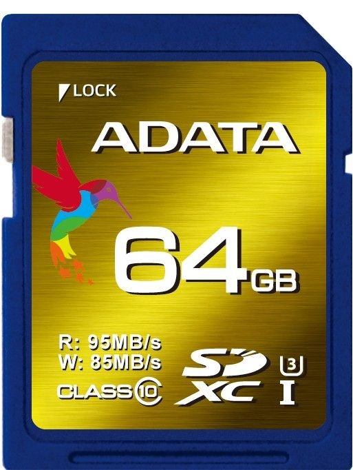 A-Data XPG SDXC UHS-I U3 64GB (R/W 95/85MB/s - Video Full HD/3D/2K/4K)