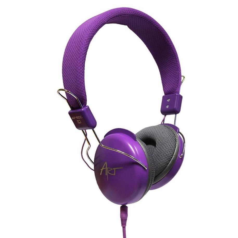 ART Słuchawki Multimedialne AP-60C fioletowe