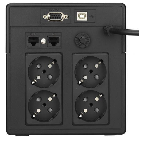 Assmann UPS - zasilacz awaryjny Line Interactive 1000VA, USB/RS232, LCD