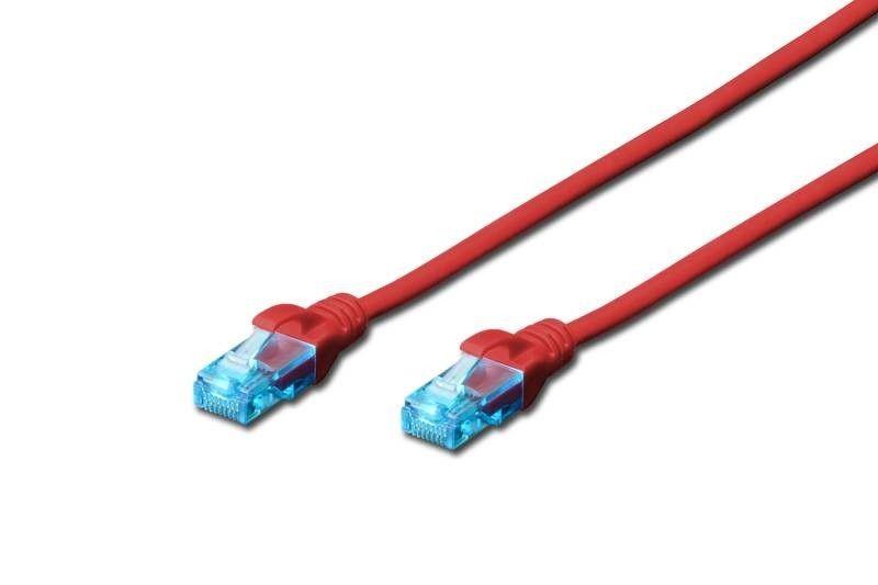 Digitus Patch cord U/UTP kat.5e PVC 3m czerwony