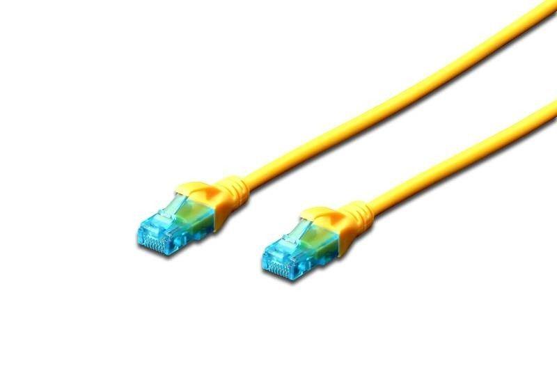 Digitus Kabel patch cord UTP, CAT.5E, żółty, 5m, 15 LGW
