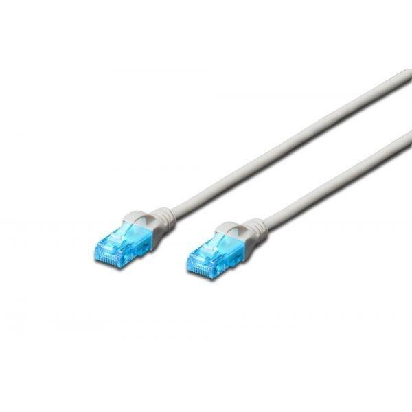 Digitus Patch cord U/UTP kat.5ePVC 10,0m szary