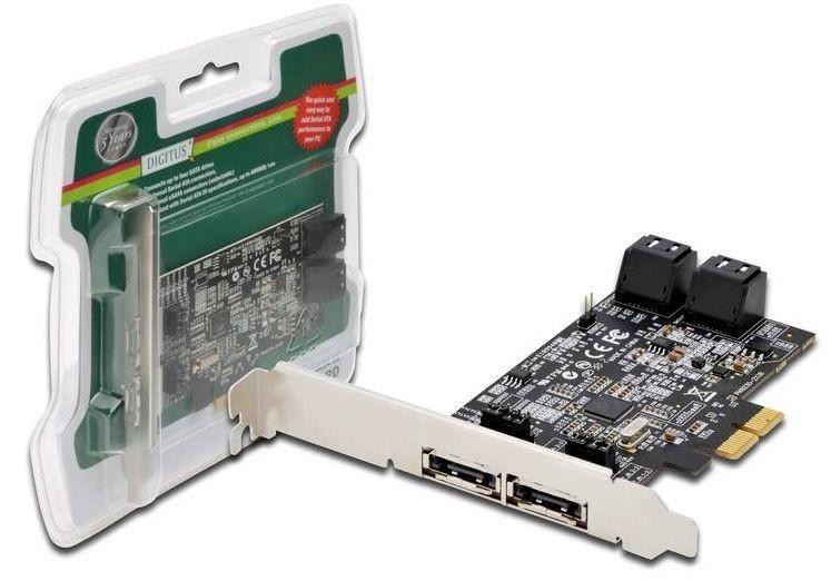 Digitus Kontroler PCI-E do eSATA III / SATA III 4-portowy, 5 LGW