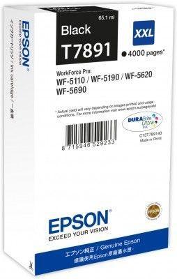 Epson Tusz Black T7891 | 65 ml | WF-5110DW/WF-5190DW/WF-5620DWF/WF-5690DWF