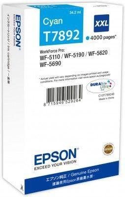 Epson Tusz cyan T7892 | 34 ml | WF-5110DW/WF-5190DW/WF-5620DWF/WF-5690DWF