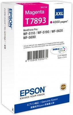 Epson Tusz magenta T7893 | 34 ml | WF-5110DW/WF-5190DW/WF-5620DWF/WF-5690DWF