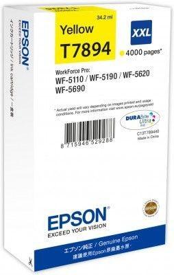 Epson Tusz yellow T7894 | 34 ml | WF-5110DW/WF-5190DW/WF-5620DWF/WF-5690DWF