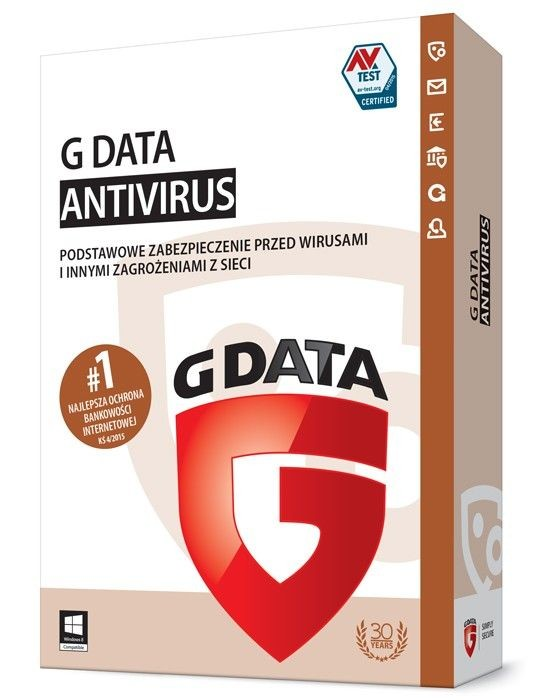 G DATA Anti Virus BOX 1PC 2 LATA