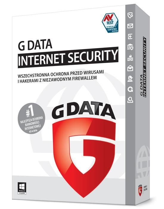 G DATA InternetSecurity 3PC 2 Lata Box
