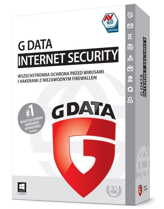 G DATA Internet Security BOX 2PC 1 ROK KONT