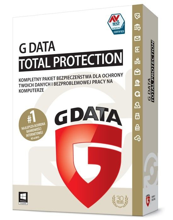 G DATA TotalProtection 1PC 2 Lata Box