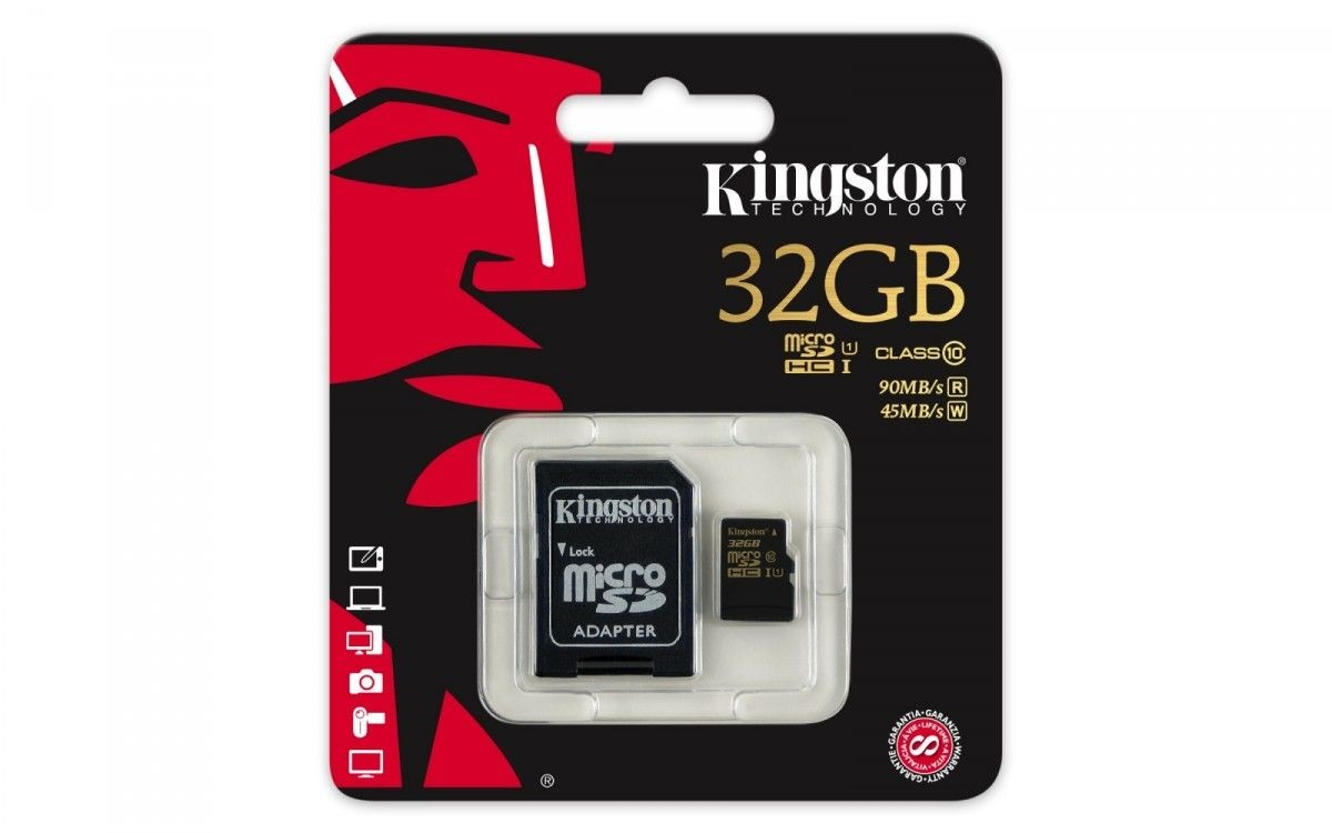 Kingston KARTA PAMIĘCI 32GB Micro SecureDigital Class 10 UHS-I 90/45MB/s + AdapterSD /KINGSTON