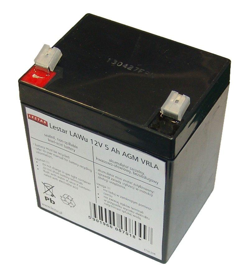 Lestar Akumulator wymienny LAWu 12V 5Ah AGM VRLA