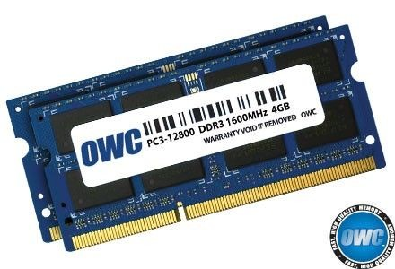 OWC SO-DIMM DDR3 2x4GB 1600MHz CL11 Apple Qualified