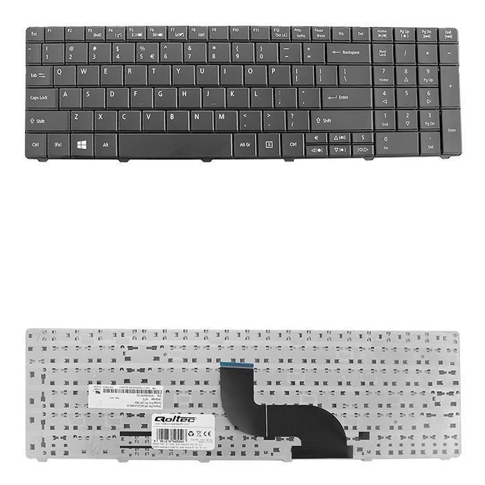 Qoltec Klawiatura do laptopa Acer Aspire E1-521 E1-531 CZARNA