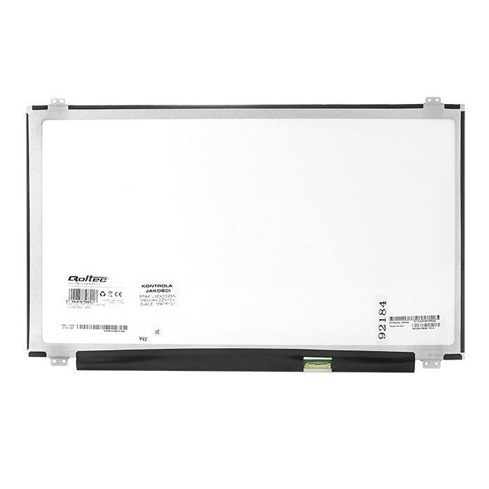 Qoltec Matryca LED 15.6'' 1366*768 GLOSSY Slim - 30Pin, GRADE A+