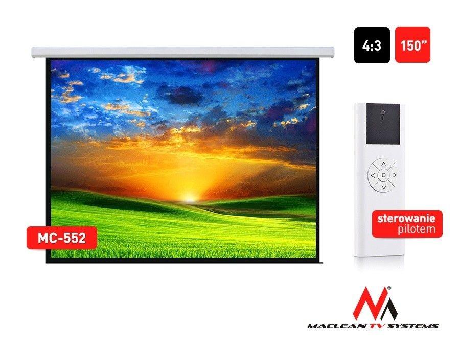 Maclean MC-552 Ekran projekcyjny elektryczny 150 4:3 300x220 cm
