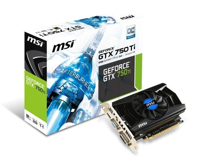 MSI KARTA PCI-E 2048MB GEFORCE GTX750Ti OC 128bit DDR5 VGA/DVI/HDMI retail / MSI