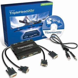 Matrox TripleHead2Go Triple Digital Edition (retail, USB, RoHS)