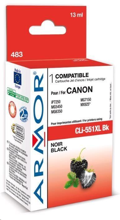 Armor cartridge pro CANON Pixma MG5450, IP7250 (CLi551XLBK) black 13ml