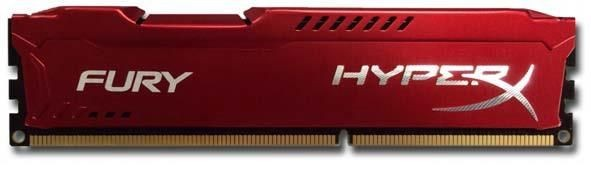 Kingston 4GB 1333MHz DDR3 CL9 DIMM 1,5V HyperX Fury Series, Czerwony